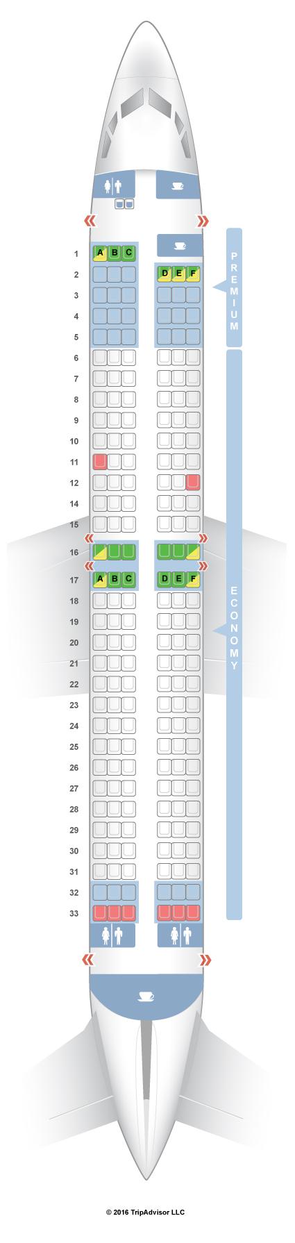 SeatGuru Seat Map Ryanair Boeing 737-800 (738)