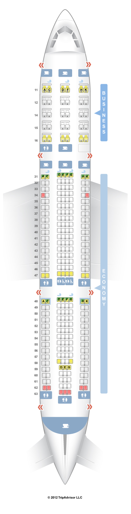 SeatGuru Seat Map Singapore Airlines Airbus A330-300 (333)