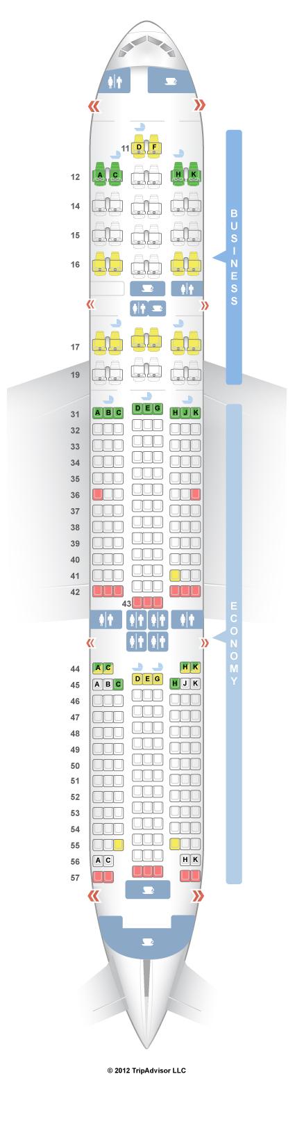 SeatGuru Seat Map Singapore Airlines Boeing 777-200 (772) V2