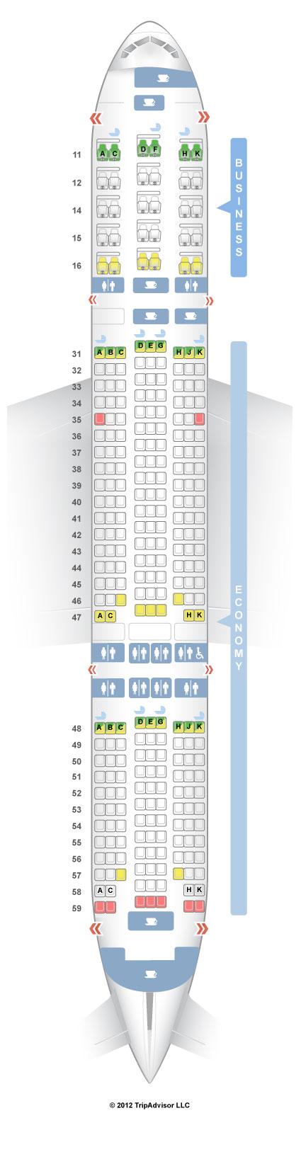 SeatGuru Seat Map Singapore Airlines Boeing 777-200ER (772) V3