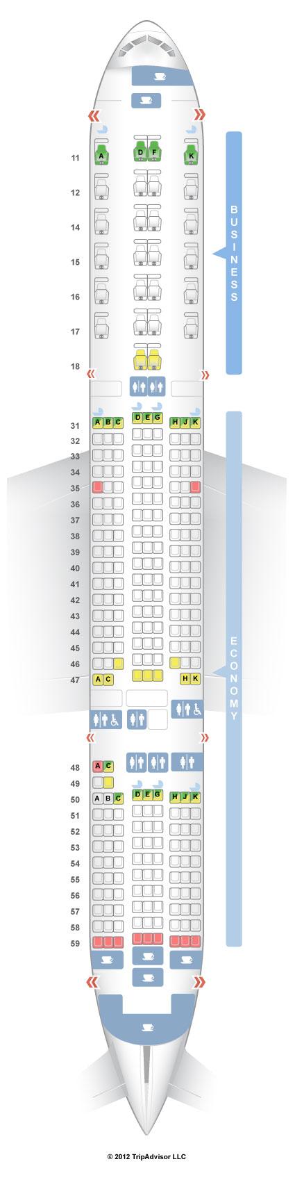 SeatGuru Seat Map Singapore Airlines Boeing 777-200ER (772) V1