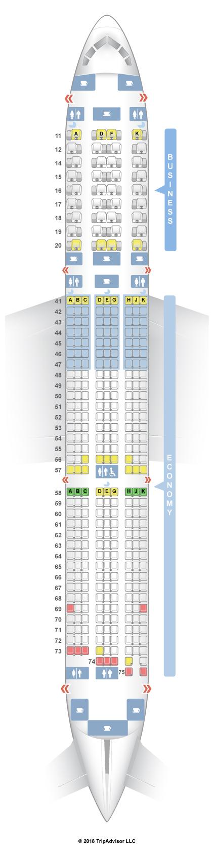 SeatGuru Seat Map Singapore Airlines Boeing 787-10 (78J)