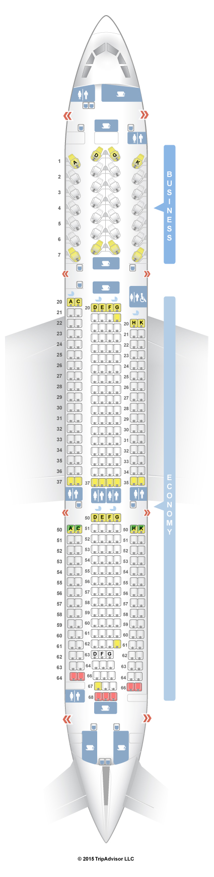 SeatGuru Seat Map SriLankan Airlines Airbus A330-300 (333)