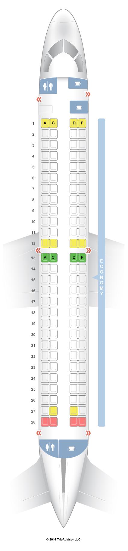 Seatguru Seat Map Swiss Embraer 190  E90