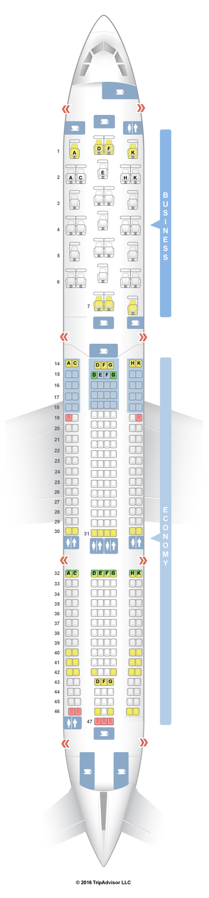 seatguru seat map brussels airlines airbus a330 300 333
