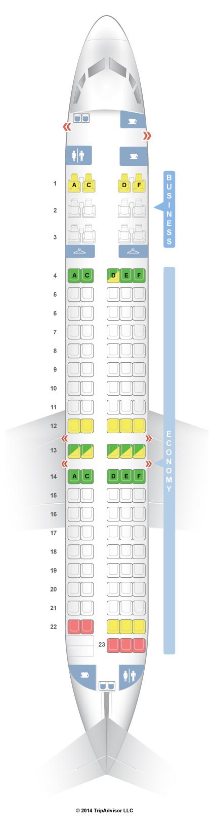 seatguru seat map qantas boeing 717 200 717 two class