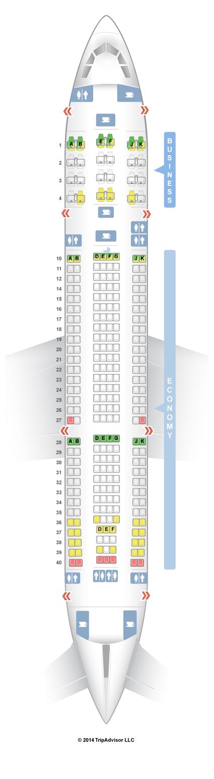 SeatGuru Seat Map Qatar Airways Airbus A330-200 (332) V2
