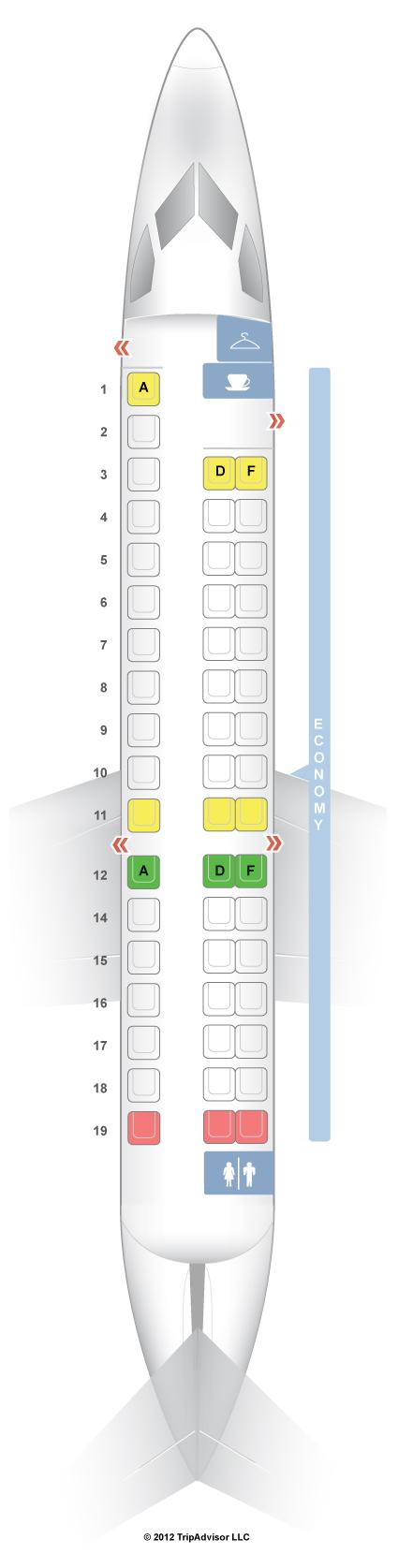 Seatguru Seat Map Air France Embraer Erj 145