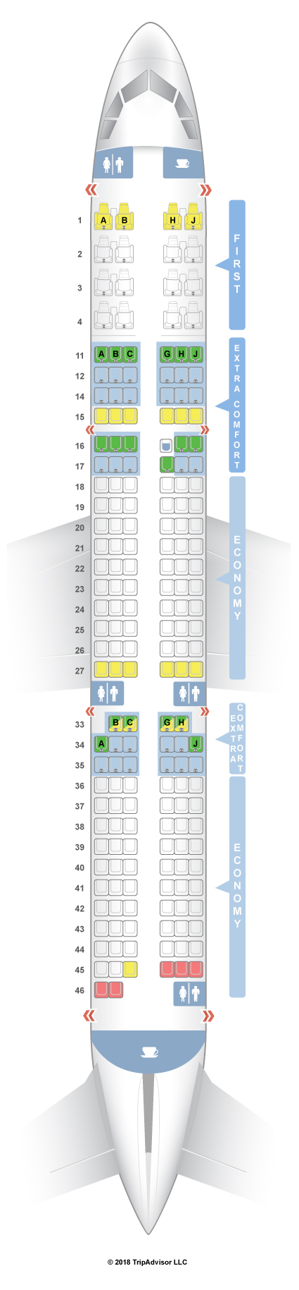 Seatguru seat map hawaiian airlines airbus a321neo 321