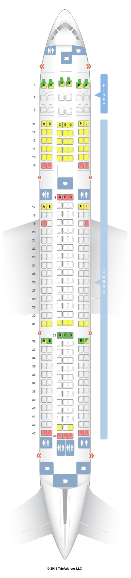 Seatguru seat map hawaiian airlines boeing 767 300er 763 v1
