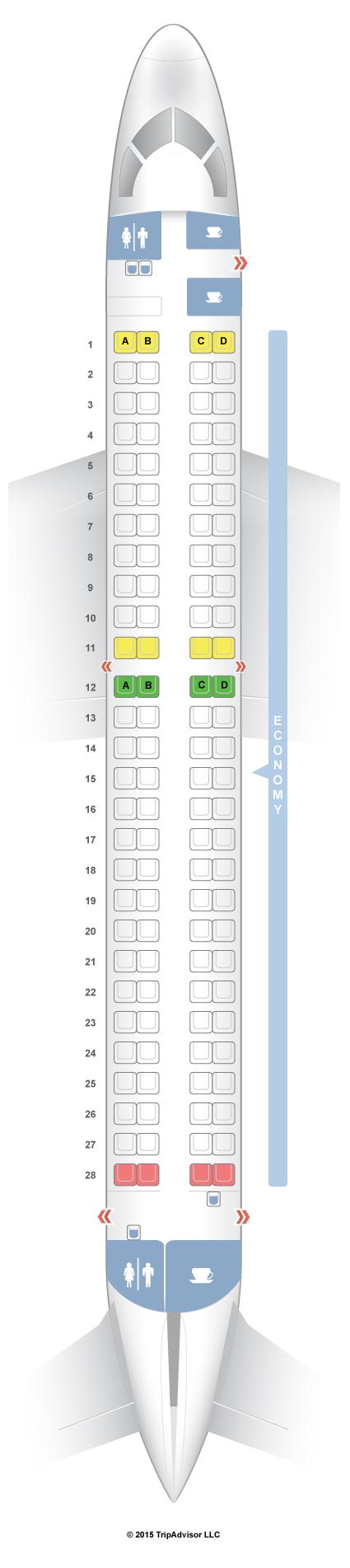 Seatguru Seat Map Lot Polish Airlines Embraer Erj 195 E95