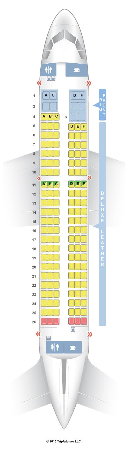 SeatGuru Seat Map Spirit Airbus A319 (319)