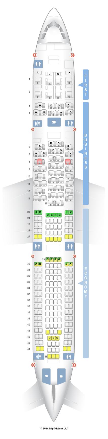Fresh A340 300 Seating Chart
