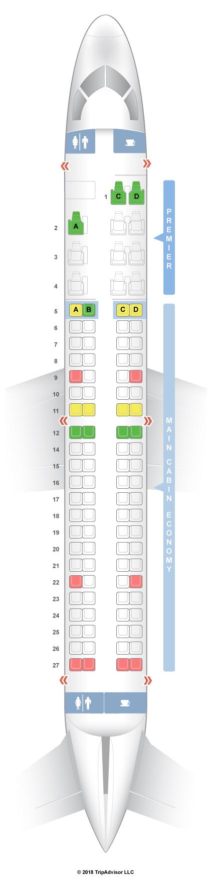 Seatguru Seat Map Aeromexico Embraer 190  E90  Layout 1