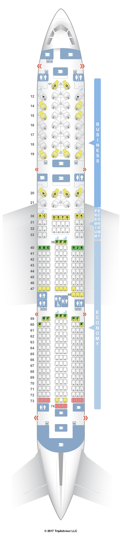 Cathay Pacific Seat Map SeatGuru Seat Map Cathay Pacific Airbus A350 900 (35G) Cathay Pacific Seat Map