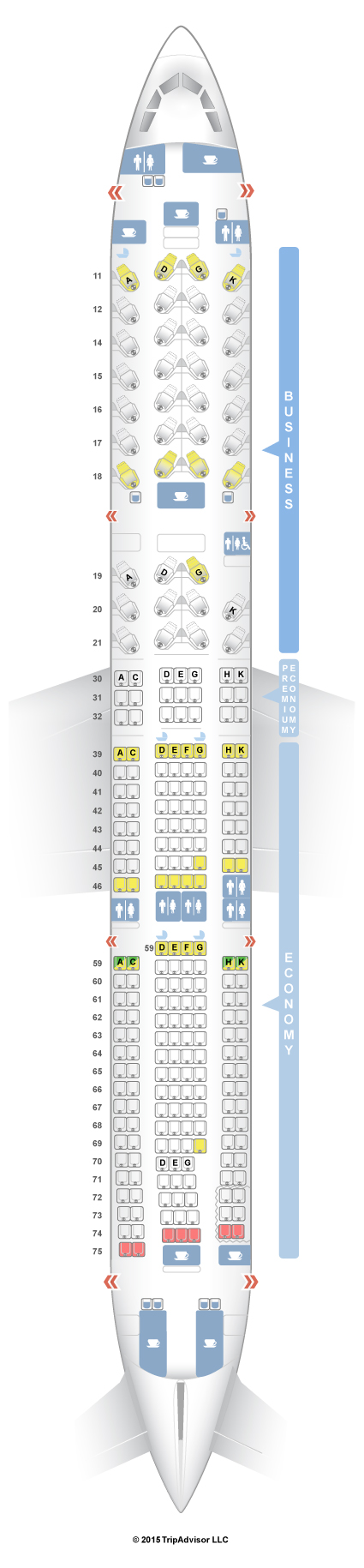 Cathay Pacific Seat Map SeatGuru Seat Map Cathay Pacific Airbus A330 300 (33K) Three Class Cathay Pacific Seat Map