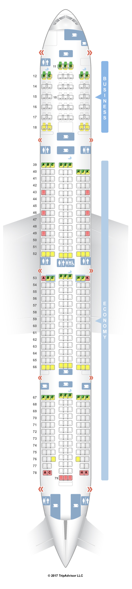 Cathay Pacific Seat Map SeatGuru Seat Map Cathay Pacific Boeing 777 300 (73Z) New Regional Cathay Pacific Seat Map
