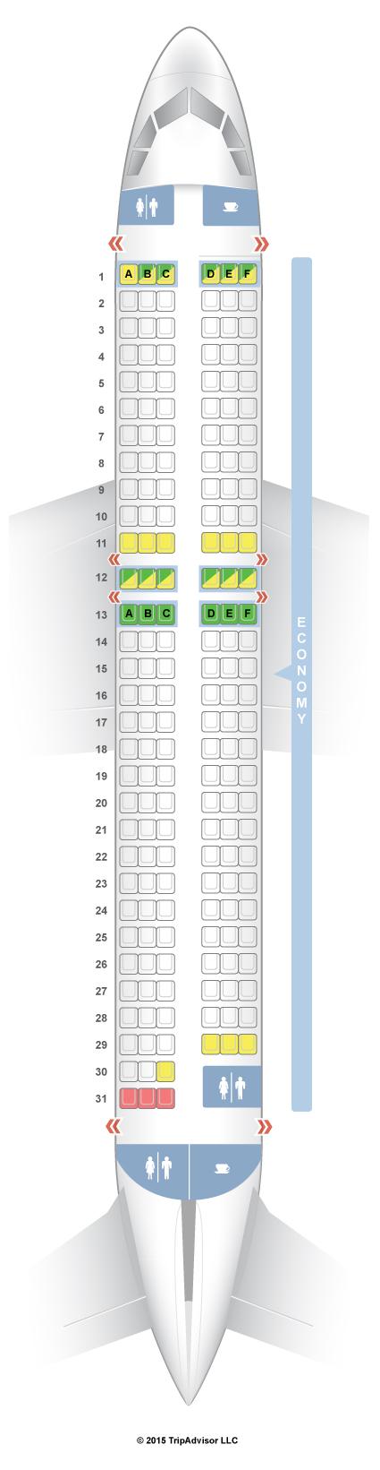 Easyjet Seat Map SeatGuru Seat Map easyJet Airbus A320 (320) V1 Easyjet Seat Map