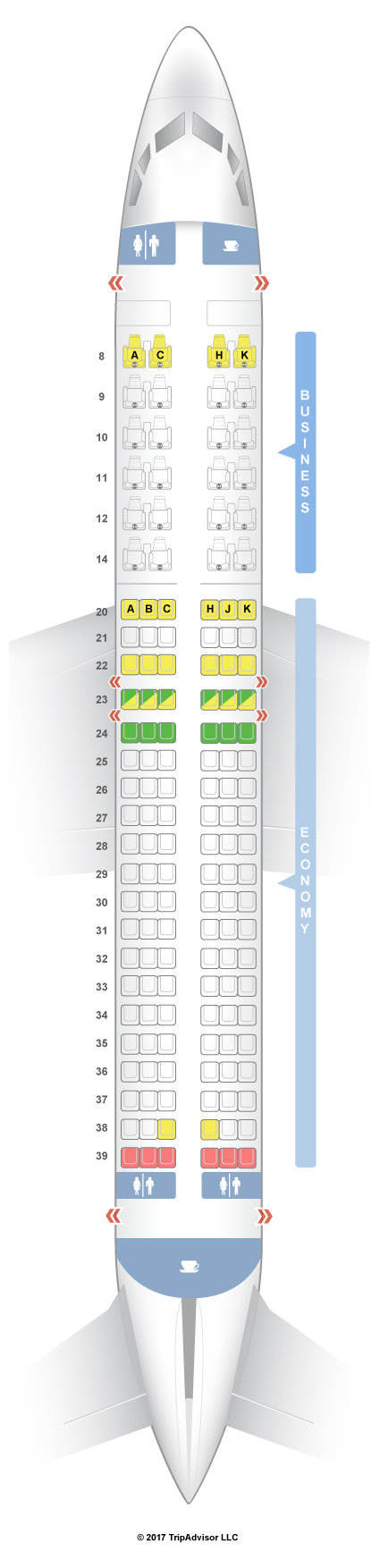 737-800 Seat Map SeatGuru Seat Map Egyptair Boeing 737 800 (738) V1 737-800 Seat Map