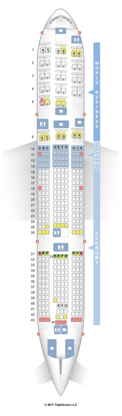 Boeing 777-200 Seat Map SeatGuru Seat Map KLM Boeing 777 200ER (772) Boeing 777-200 Seat Map