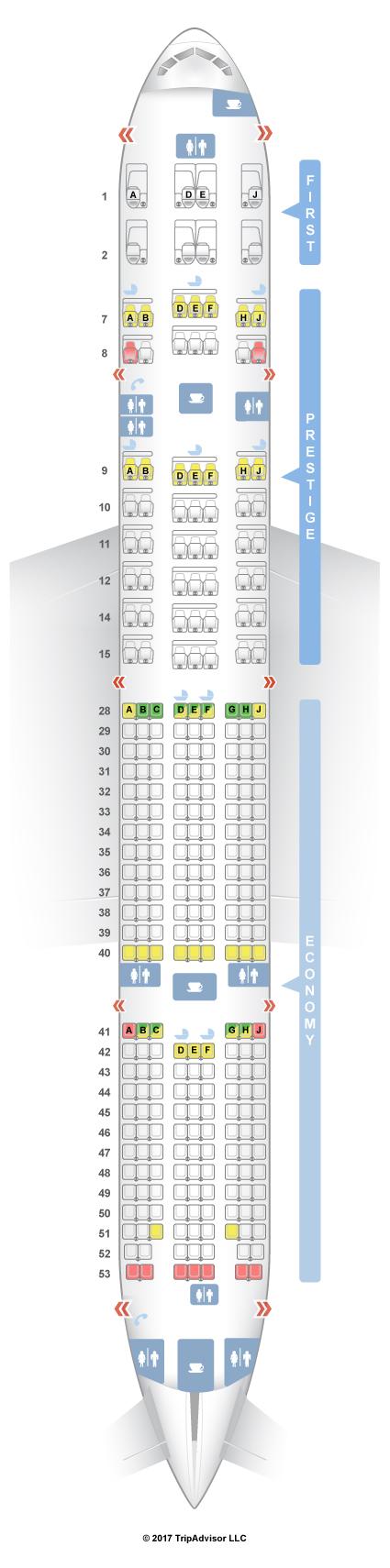 Boeing 777 300Er Seat Map SeatGuru Seat Map Korean Air Boeing 777 300ER (77W) V2 Boeing 777 300Er Seat Map