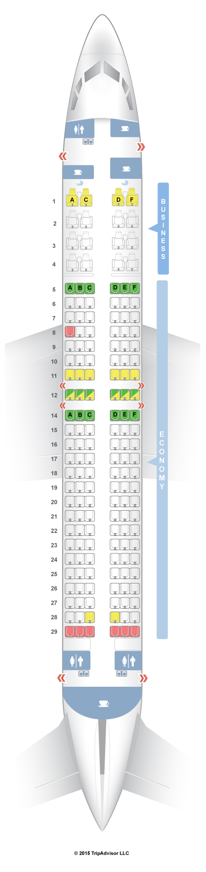 737-800 Seat Map SeatGuru Seat Map Malaysia Airlines Boeing 737 800 (738) V2 737-800 Seat Map