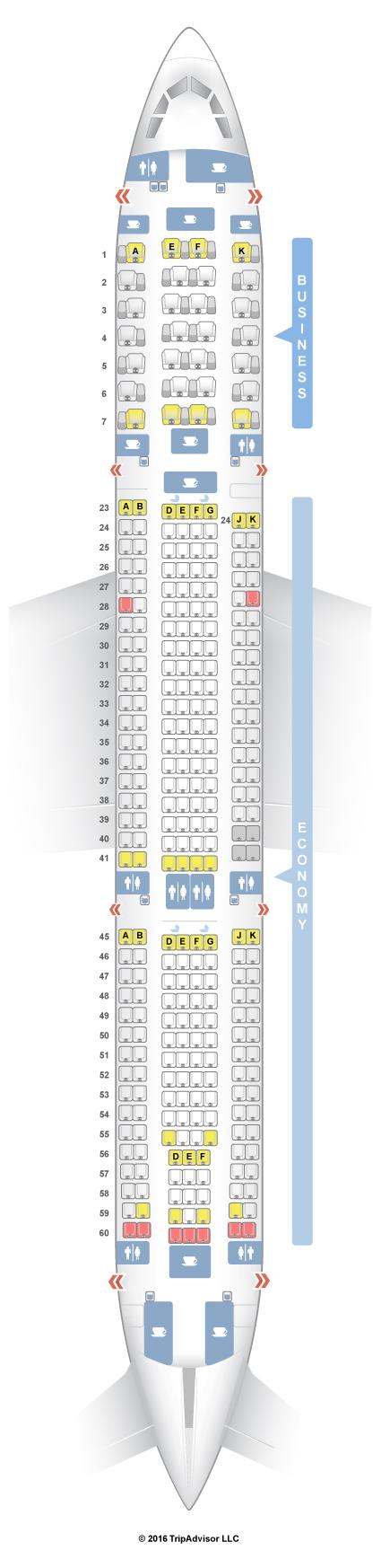 Qantas Seat Map SeatGuru Seat Map Qantas Airbus A330 300 (333) Qantas Seat Map