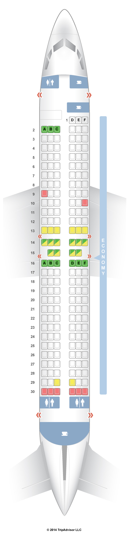 Southwest Seat Map SeatGuru Seat Map Southwest Boeing 737 800 (738) Southwest Seat Map