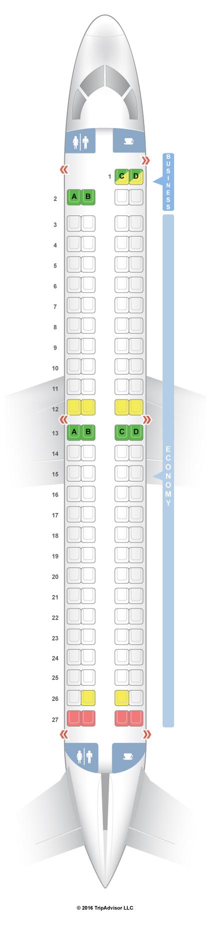 SeatGuru    Seat       Map    TAP Portugal Embraer E190     E90