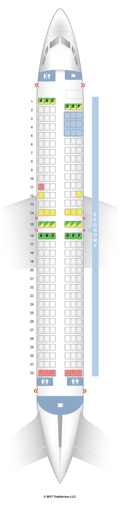 737-800 Seat Map SeatGuru Seat Map Thomson Boeing 737 800 (738) 737-800 Seat Map