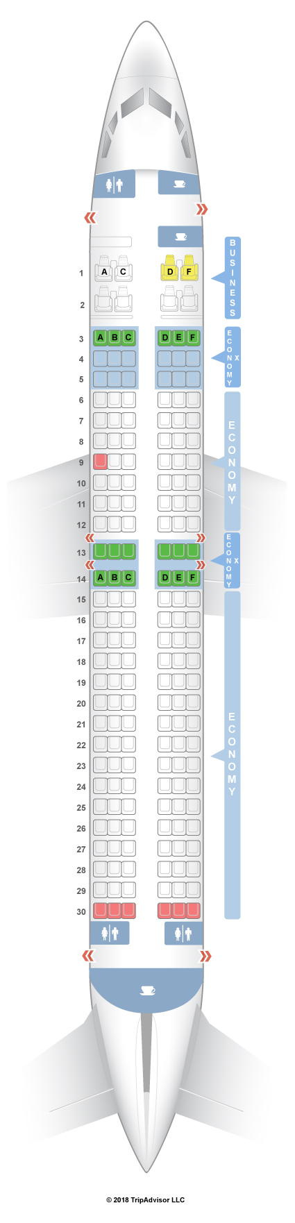 737-800 Seat Map SeatGuru Seat Map Virgin Australia Boeing 737 800 (73H) 737-800 Seat Map