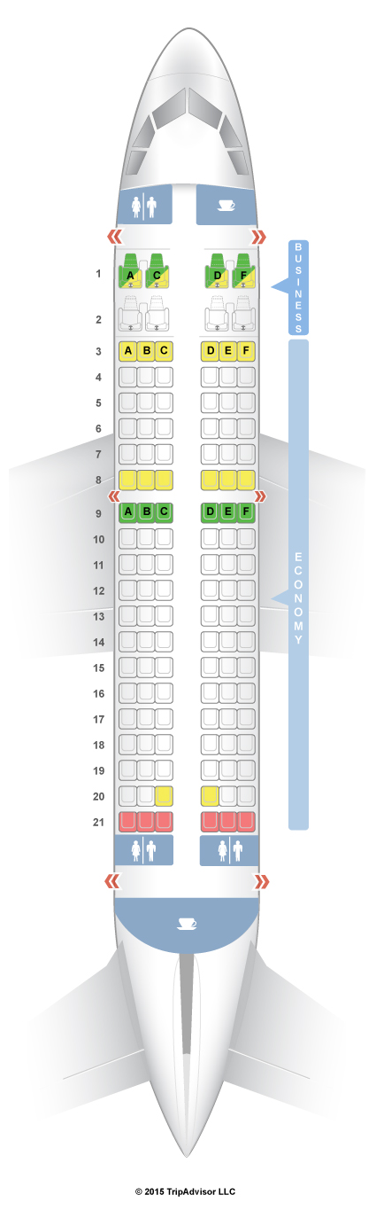 SeatGuru Seat Map Air India Airbus A319 319 Layout 1