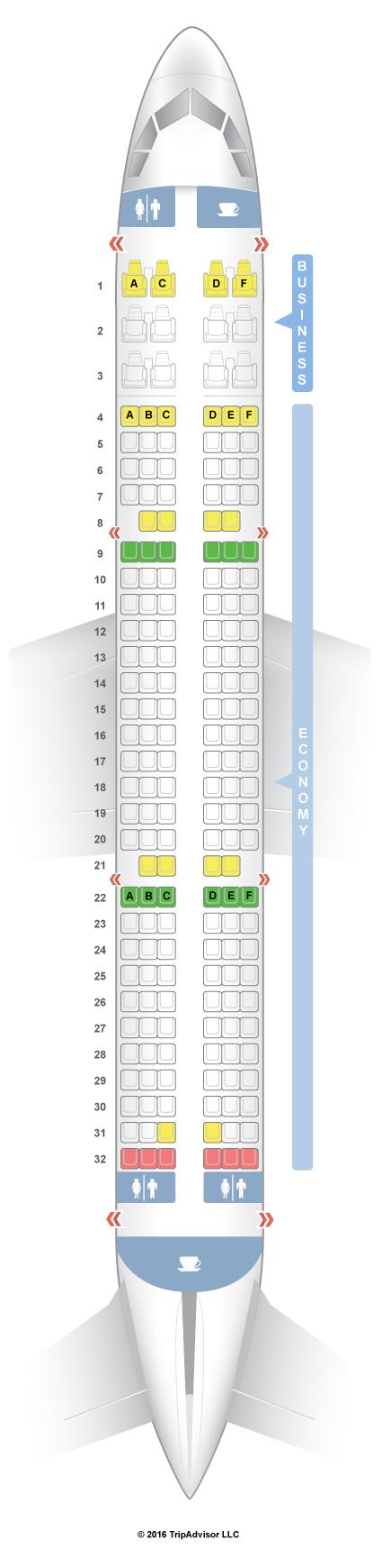 SeatGuru Seat Map Air India Airbus A321 (321)