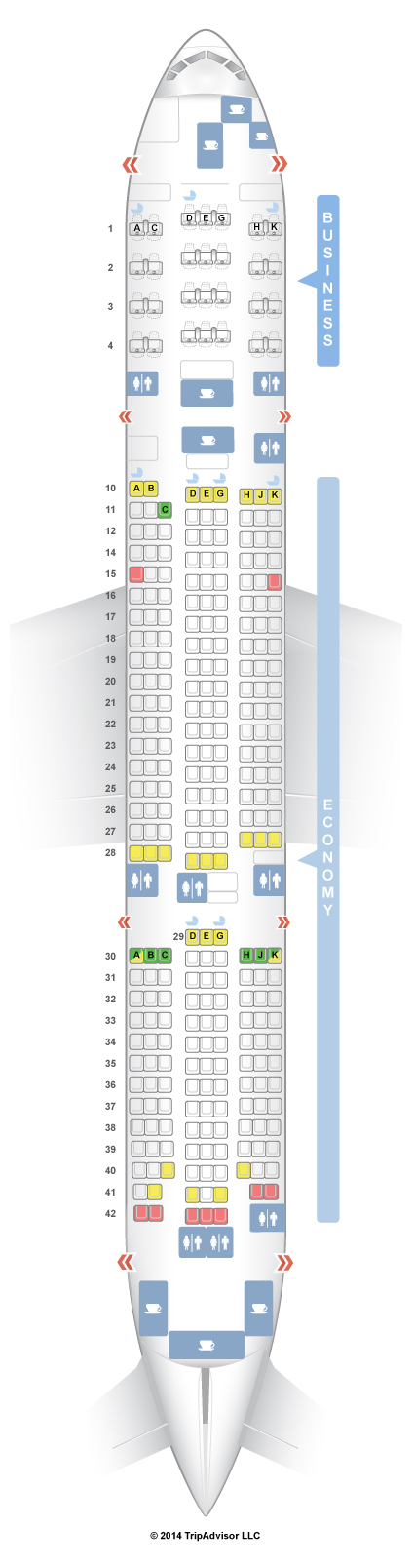 SeatGuru Seat Map Asiana Boeing 777-200ER (772) Layout 2