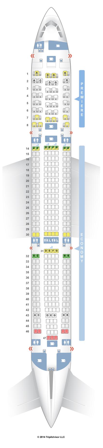 SeatGuru Seat Map Jet Airways Airbus A330-300 (333)
