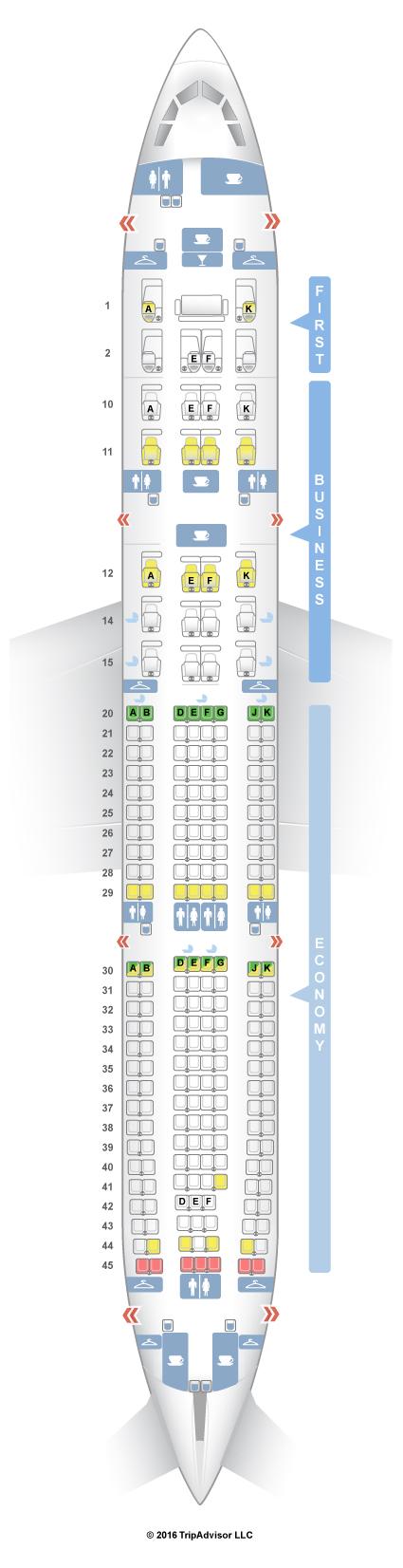 SeatGuru Seat Map Oman Air Airbus A330-300 (333)