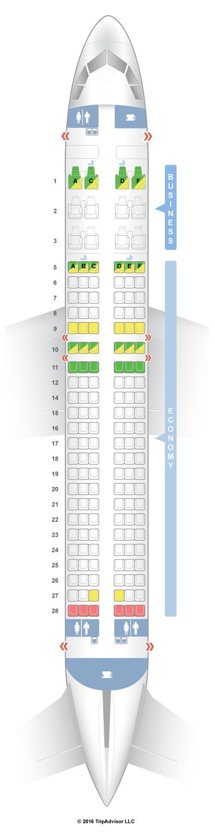 SeatGuru Seat Map Silkair Airbus A320 (320)