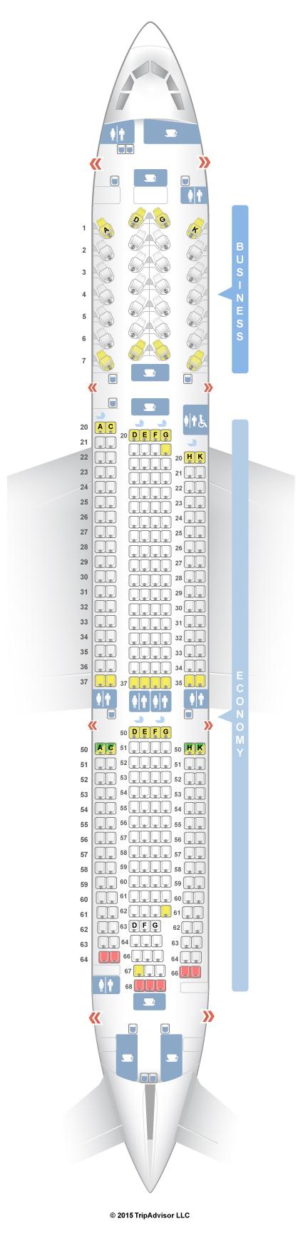 SeatGuru Seat Map SriLankan Airlines Airbus A330-300 (333)