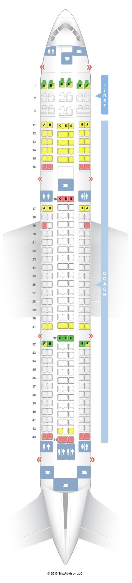 Seatguru seat map hawaiian airlines