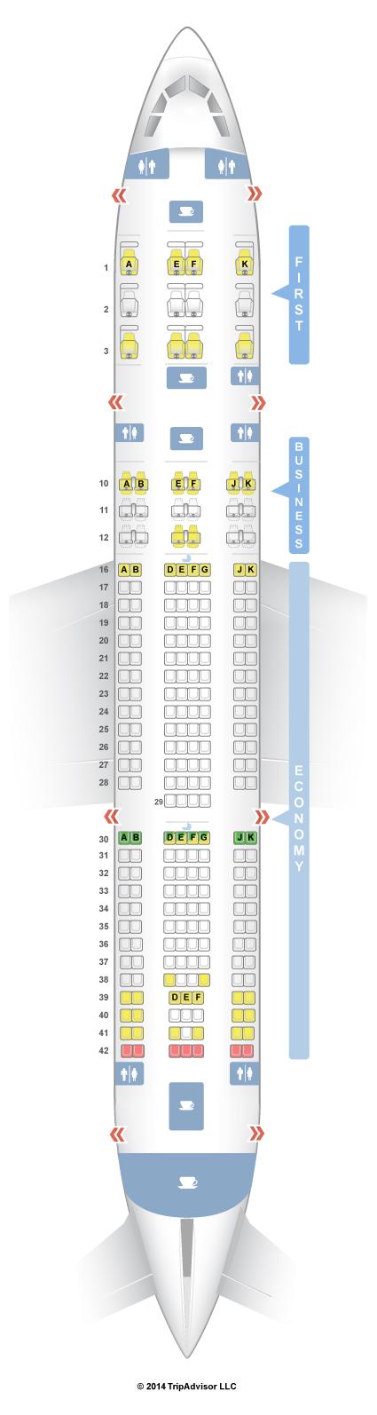 SeatGuru Seat Map Qatar Airways