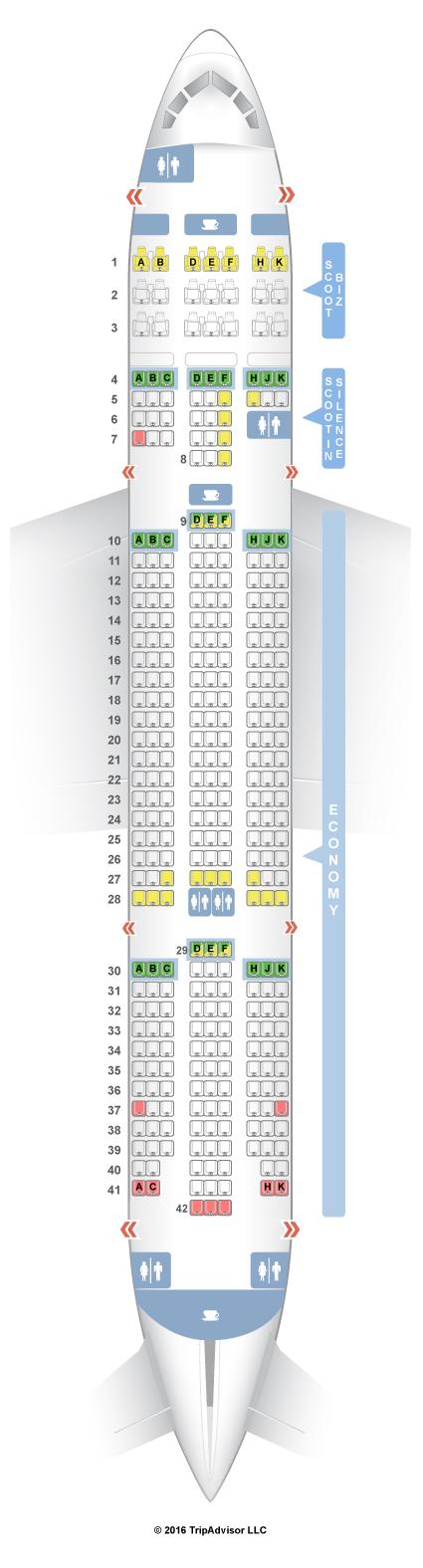 SeatGuru Seat Map Scoot Airlines
