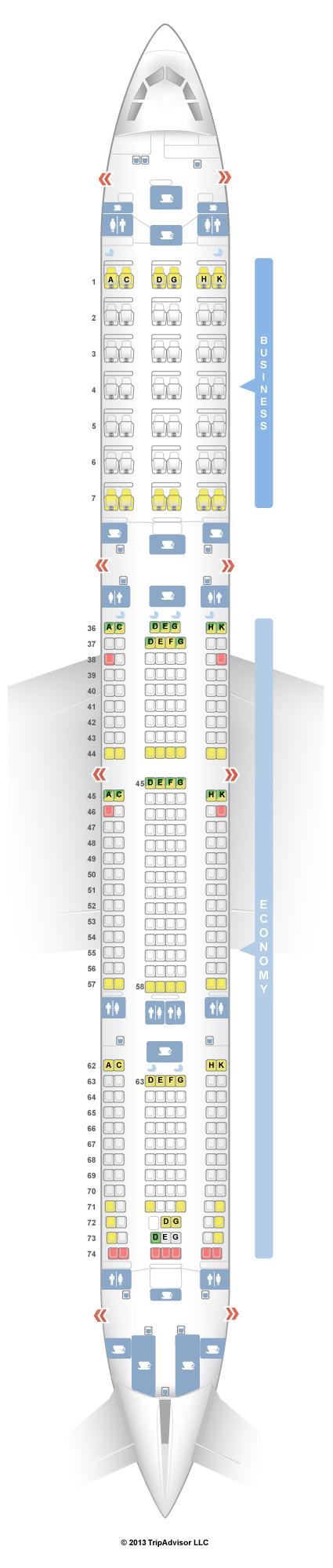 Airbus A340 600 Sitzplan South African - Sitzplan auf Deutsch