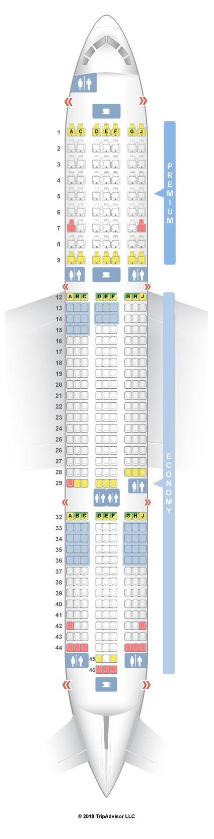 Seating Plan 787 Dreamliner | Elcho Table