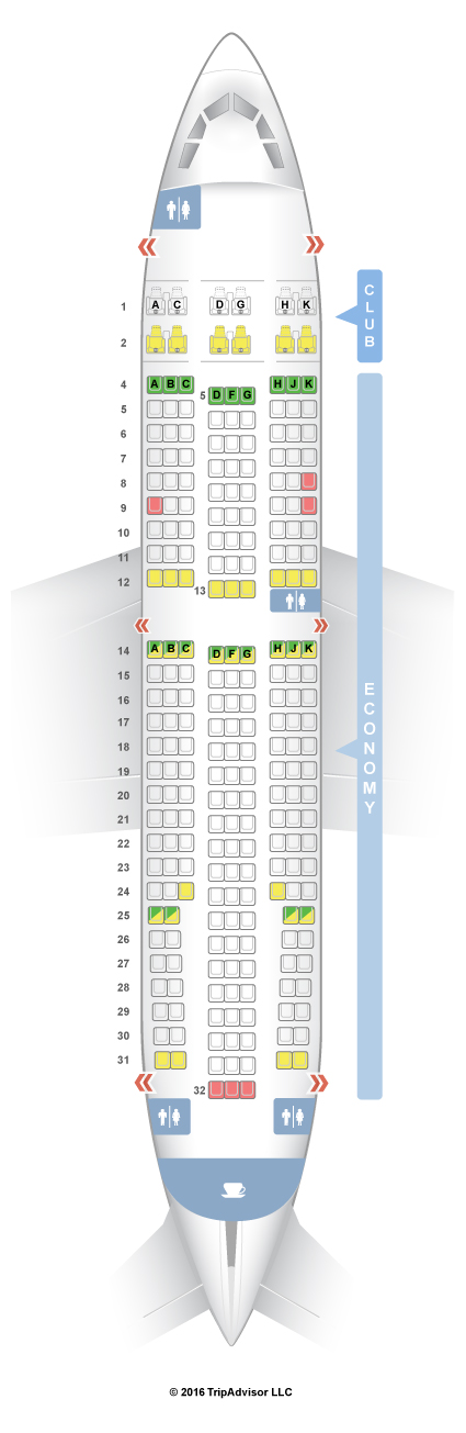 Seatguru Seat Map Air Transat