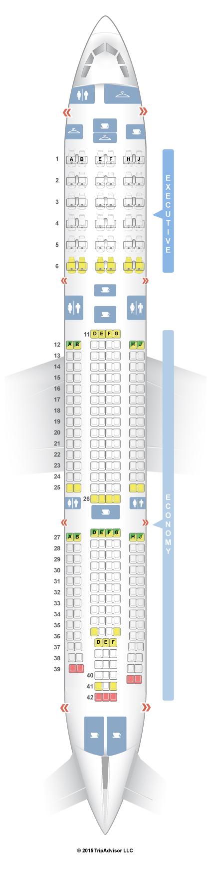 Top 10 Punto Medio Noticias Seatguru Airbus A340 300 Air Mauritius