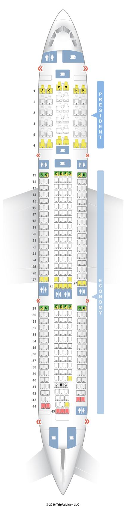 Airbus A330-300 Seat Map SeatGuru Seat Map Aeroflot   SeatGuru