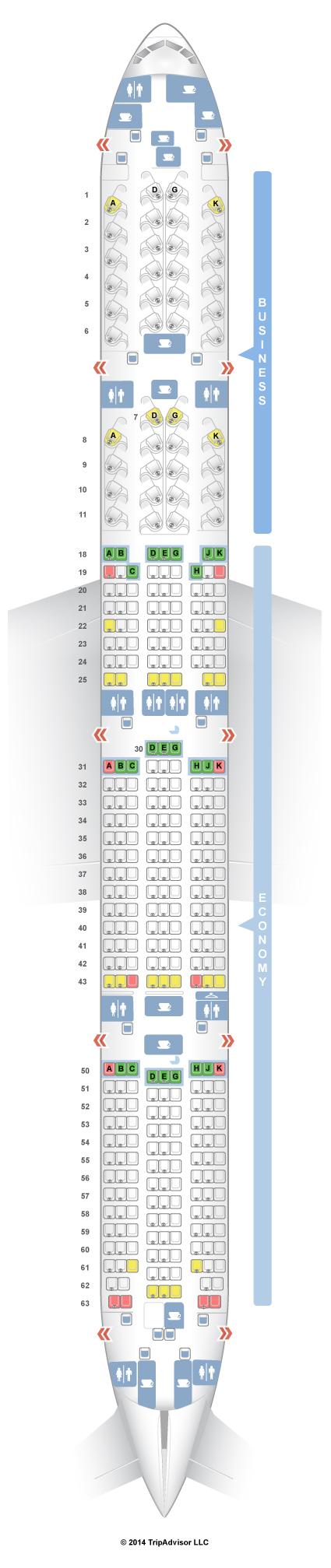 Air Canada 777 300 Seat Map SeatGuru Seat Map Air Canada