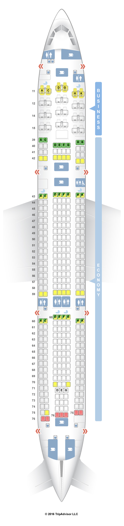 A330 300 Seat Map Cathay Pacific SeatGuru Seat Map Cathay Pacific   SeatGuru