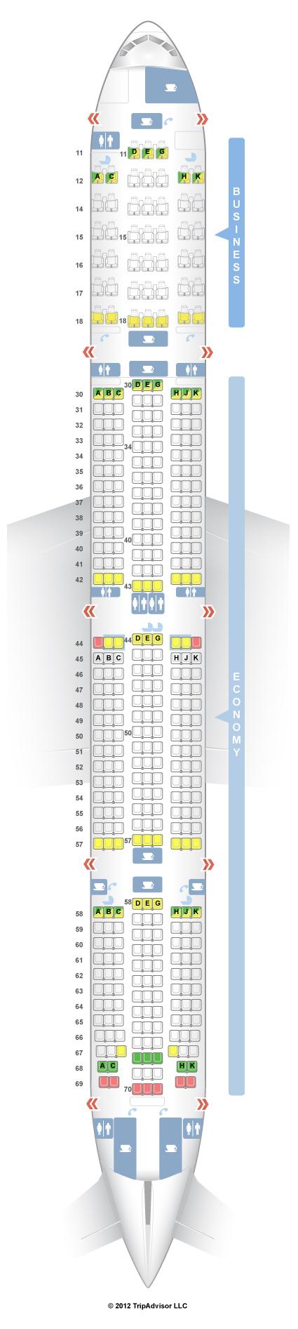 Cathay Pacific Premium Economy Seating Plan 77w - Best ...