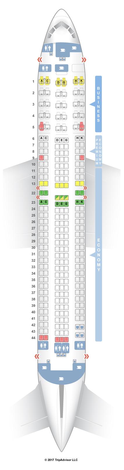 SeatGuru Seat Map Condor